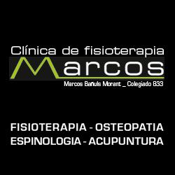 logo clinica de fisioterapia marcos baÑuls