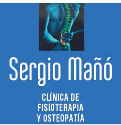 logo clinica fisioterapia y osteopatia sergio maÑo