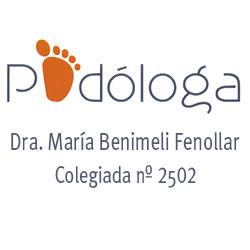 logo clinica podologica dra. maria benimeli