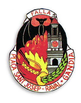 Escudo Falla Plaça San Josep Raval